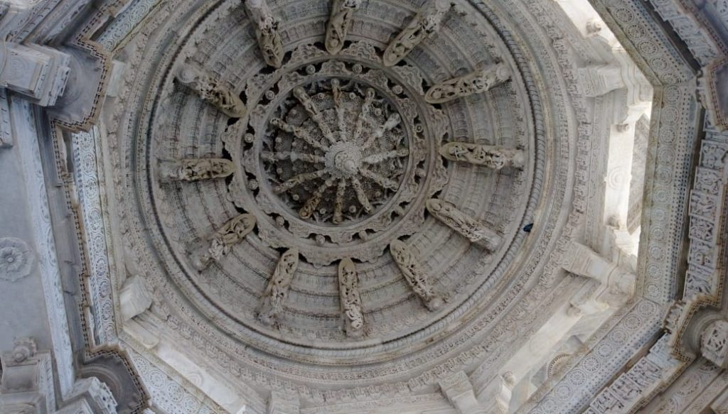 Ceiling in the temple