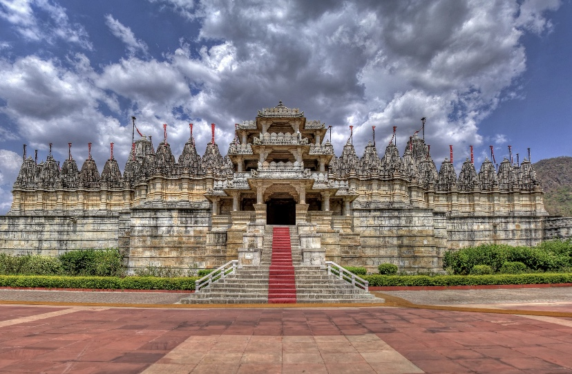 Front view of Ranakpur Jain temple