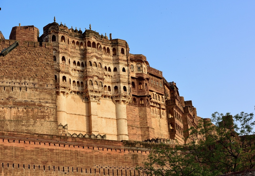 Closer view of Mehrangarh fort: visit to Jodhpur