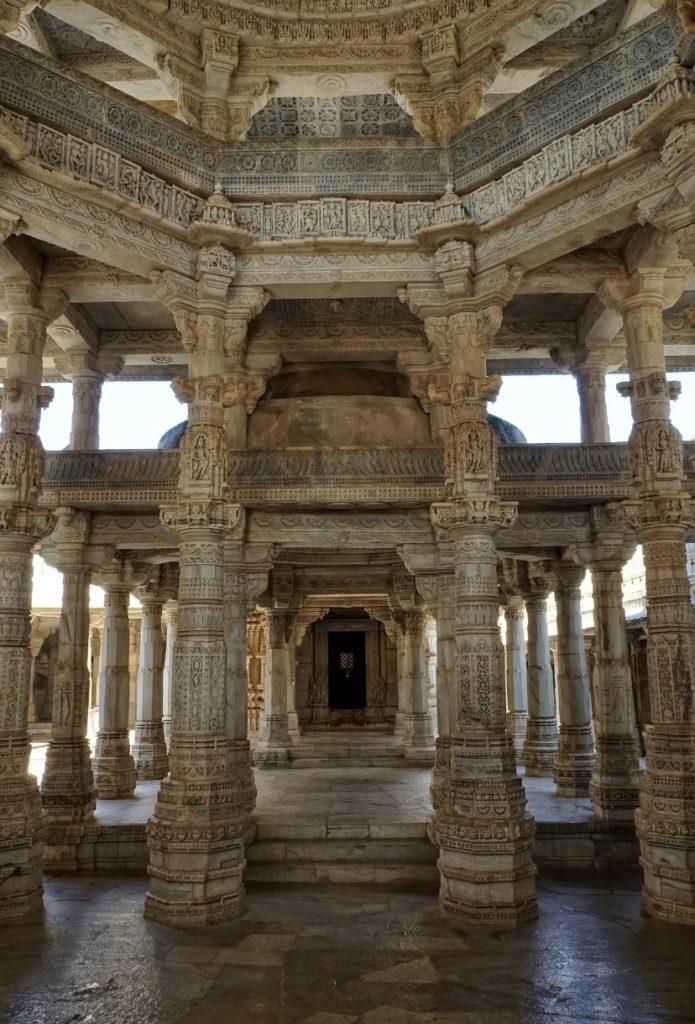 Pillars inside temple