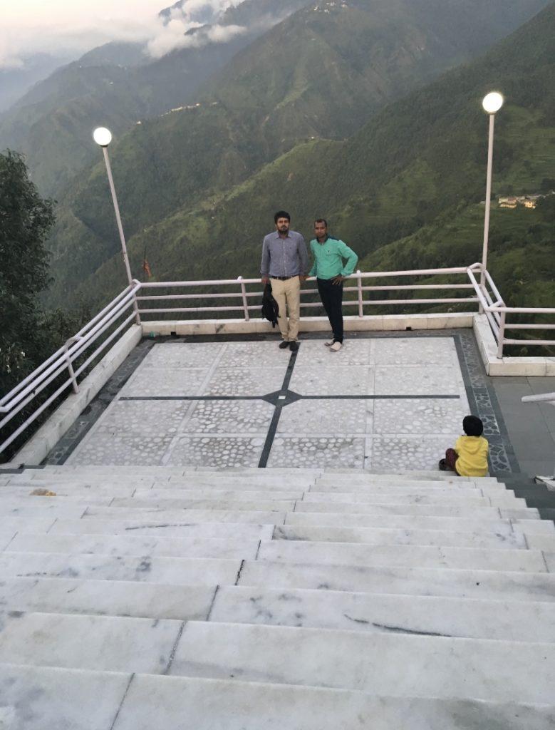 Beautiful valley around Jwalaji temple: mussoorie